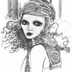 Keira Rathbone, artista inglesa que faz desenhos com a máquina de escrever.